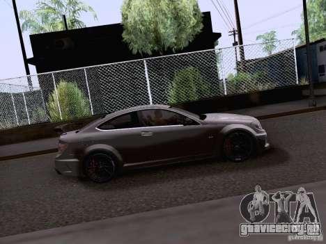 Mercedes-Benz C63 AMG Coupe Black Series для GTA San Andreas вид сзади слева