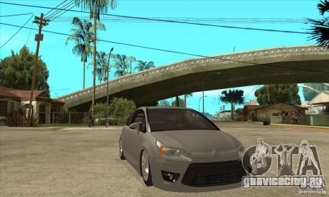 Citroen C4 VTS Coupe 2009 для GTA San Andreas вид сзади