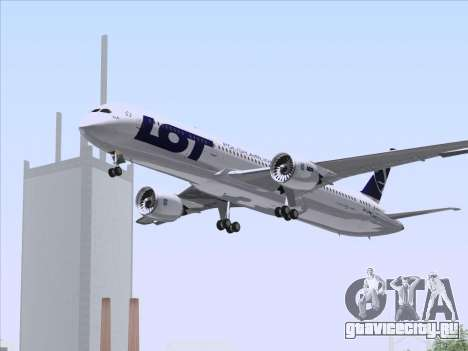 Boeing 787-9 LOT Polish Airlines для GTA San Andreas вид сверху