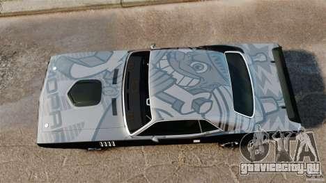 Plymouth Cuda 1971 [EPM] Mopar для GTA 4 вид справа