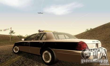 Ford Crown Victoria New Corolina Police для GTA San Andreas вид слева