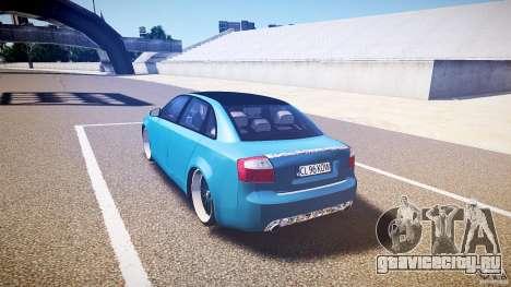 Audi S4 Custom для GTA 4 вид сзади слева