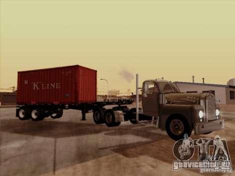 Mack B 61 для GTA San Andreas вид сзади