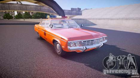 AMC Matador Hazzard County Sheriff [ELS] для GTA 4 вид изнутри