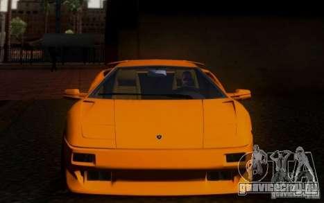 Lamborghini Diablo VTTT Black Revel для GTA San Andreas вид изнутри
