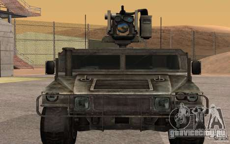 Hummer H1 from Battlefield 3 для GTA San Andreas вид сзади слева