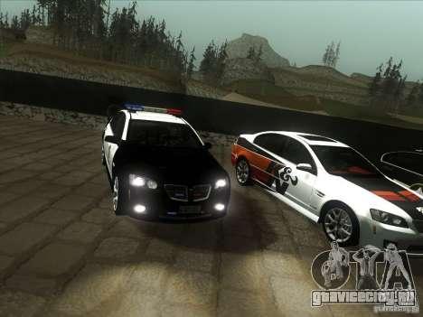 Pontiac G8 Police для GTA San Andreas вид сзади