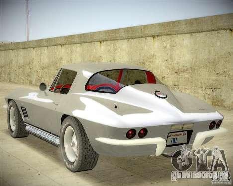Chevrolet Corvette Stingray для GTA San Andreas вид слева