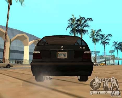 BMW 318i Touring для GTA San Andreas вид изнутри