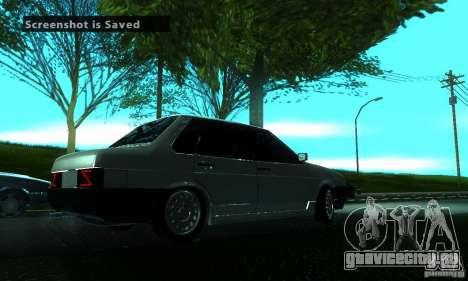 ВАЗ 21099 PROTOCOL для GTA San Andreas вид справа