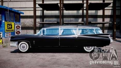 Cadillac Miller-Meteor Hearse 1959 для GTA 4 вид слева