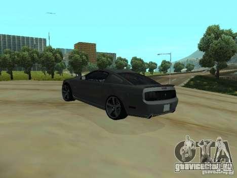 Ford Mustang GTS для GTA San Andreas вид сзади слева