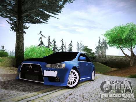 Mitsubishi Lancer Evolution Drift Edition для GTA San Andreas вид сзади