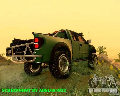 Ford F150 2011 SVT RapTor для GTA San Andreas вид слева