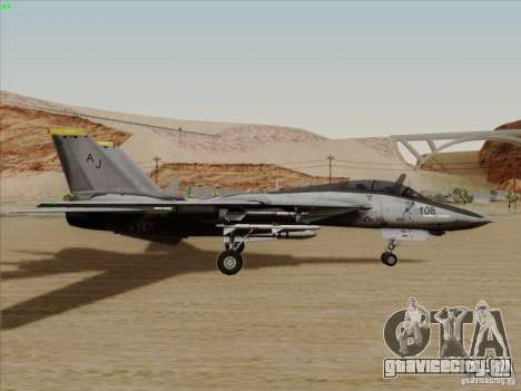 F-14 Tomcat Warwolf для GTA San Andreas вид сзади слева