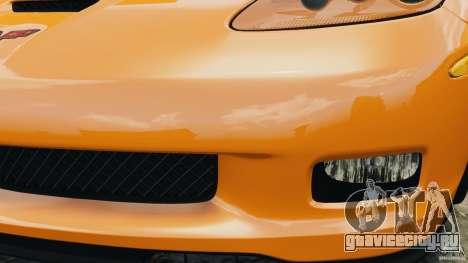 Chevrolet Corvette C6 Grand Sport 2010 для GTA 4 вид снизу