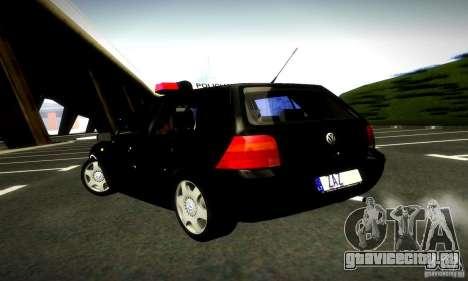 Volkswagen Golf Police для GTA San Andreas вид слева