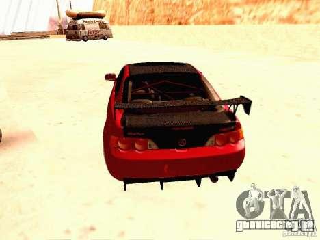 Acura RSX Drift для GTA San Andreas вид сзади слева