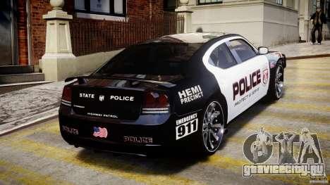 Dodge Charger NYPD Police v1.3 для GTA 4 салон