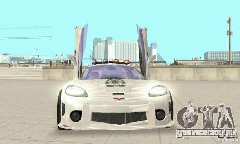 Chevrolet Corvette C6 Police Сержант Кросс NFSMW для GTA San Andreas вид сзади