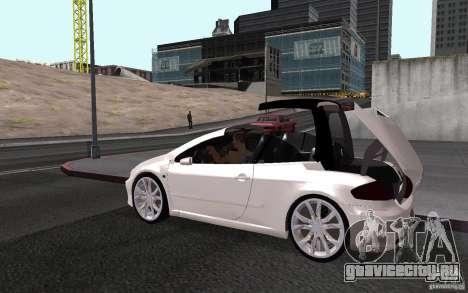 Peugeot 307CC BMS для GTA San Andreas вид изнутри