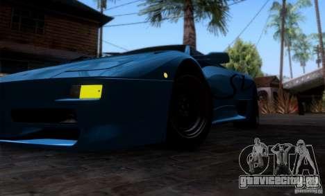 Lamborghini Diablo SV V1.0 для GTA San Andreas салон