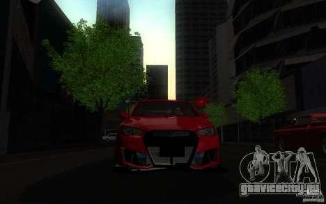 Mitsubishi Lancer EVO X drift Tune для GTA San Andreas вид справа