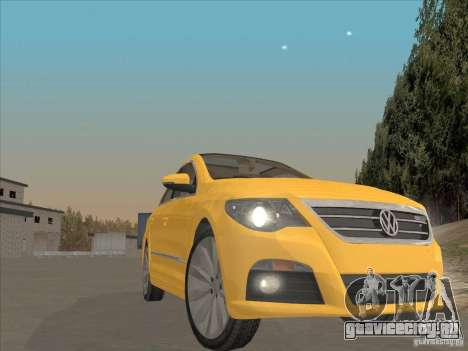Volkswagen Passat CC для GTA San Andreas вид изнутри