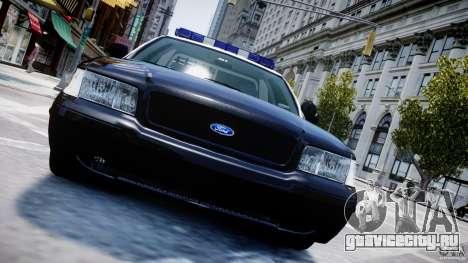 Ford Crown Victoria Massachusetts Police [ELS] для GTA 4 двигатель