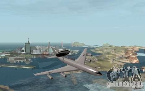 Boeing E-3 Sentry для GTA San Andreas вид справа