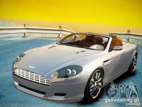 Aston Martin DB9 Volante v2.0 для GTA 4 вид сзади слева