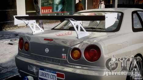 Nissan Skyline R34 Nismo для GTA 4 колёса