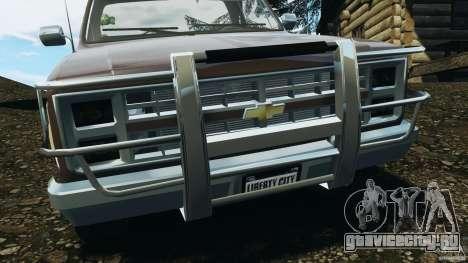 Chevrolet Silverado 1986 для GTA 4 вид снизу
