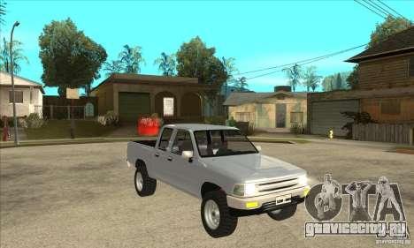 Toyota Hilux CD для GTA San Andreas вид сзади