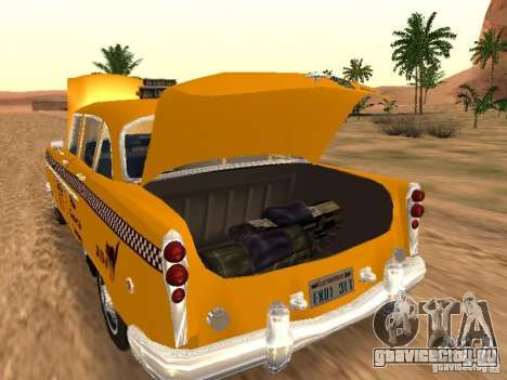 Checker Marathon Yellow CAB для GTA San Andreas вид сзади слева