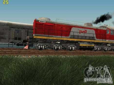 ТЭМ2-6883 РЖД для GTA San Andreas вид слева