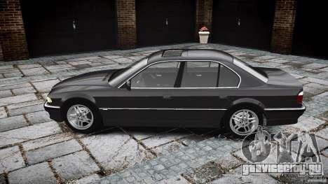 BMW 740i (E38) style 37 для GTA 4 вид изнутри