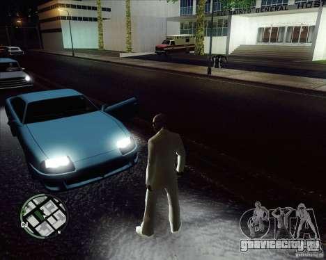 Белый костюм для GTA San Andreas четвёртый скриншот