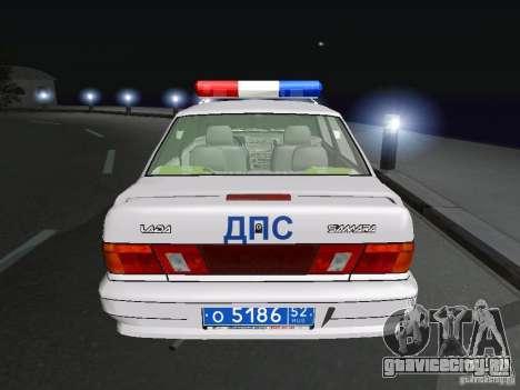 ВАЗ 2115 Полиция ДПС для GTA San Andreas вид сзади слева