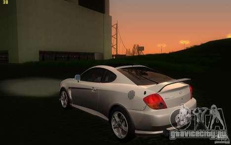 Hyundai Tiburon V6 Coupe 2003 для GTA San Andreas вид сзади слева
