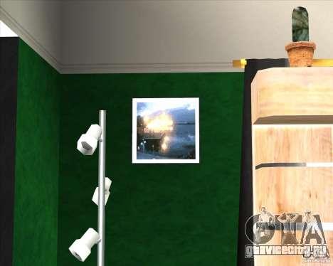 New Interior of CJs House для GTA San Andreas третий скриншот