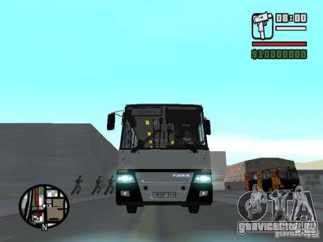 Ikarus 260.06 для GTA San Andreas вид изнутри