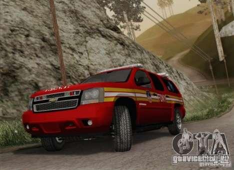 Chevrolet Suburban EMS Supervisor 862 для GTA San Andreas вид сзади