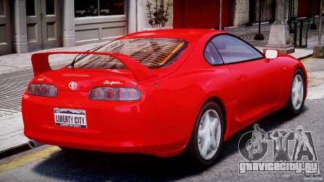 Toyota Supra MKIV 1995 v2.0 Final для GTA 4 вид справа