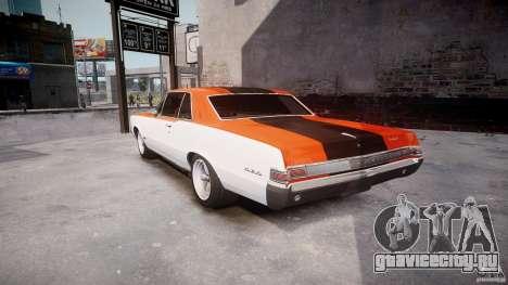 Pontiac GTO 1965 v3.0 для GTA 4 вид сзади слева