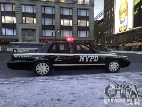Ford Crown Victoria NYPD Auxiliary для GTA 4 вид сзади слева