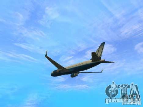Boeing 767-300 United Airlines New Livery для GTA San Andreas вид сзади