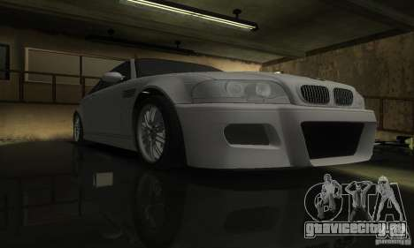 BMW M3 Tuneable для GTA San Andreas вид сзади