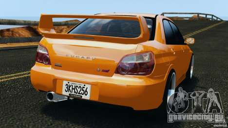 Subaru Impreza WRX STI 2005 для GTA 4 вид сзади слева