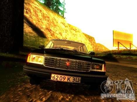 ГАЗ Волга 31029 для GTA San Andreas вид изнутри